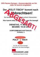POLIT-TISCH LÜBBRECHTSEN 2020 abgesagt