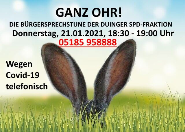 Bürgersprechstunden der Duinger SPD-Ratsfraktion