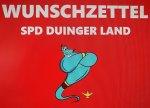 """+++ DER SPD-WUNSCHZETTEL: MACH DUINGEN ZUR """"GEILSTEN"""" GEMEINDE! +++"""