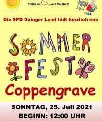 Sonntag, 25.07.2021: SPD Duinger Land lädt ein zum Sommerfest